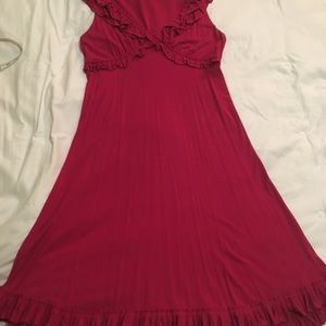 Women's red Cynthia Rowley dress.